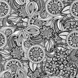Bezszwowy rocznika freehand rysunku wzór Fotografia Stock