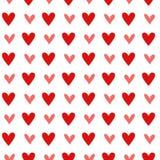 Bezszwowy rocznika serca wzór background Zdjęcie Royalty Free
