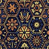 Bezszwowy rocznika wzór w patchworku stylu Etniczny i plemienny m royalty ilustracja