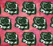 Bezszwowy rocznika wzór z różami Fotografia Royalty Free