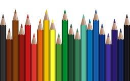 bezszwowy rząd barwiący pióra ilustracji