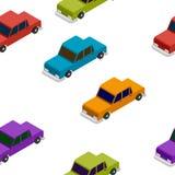 Bezszwowy Samochodowy isometric wzór Zdjęcia Stock
