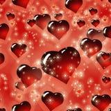 Bezszwowy serca StValentine ` s dnia tła wzór Zdjęcie Royalty Free