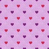 bezszwowy serce abstrakcjonistyczny wzór Valetines dzień lub dziewczęcy Obrazy Royalty Free