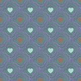bezszwowy serce abstrakcjonistyczny wzór Valetines dzień lub dziewczęcy Fotografia Stock