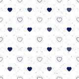 bezszwowy serce abstrakcjonistyczny wzór Valetines dzień, urodziny o ilustracja wektor