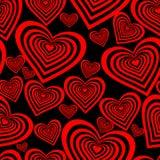 Bezszwowy serce wzór zdjęcie stock