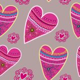 Bezszwowy serce wzór. Zdjęcia Stock