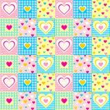 Bezszwowy serce wzór Fotografia Stock