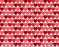 Bezszwowy serce wzór Fotografia Royalty Free