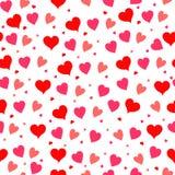Bezszwowy serce wzór Zdjęcie Royalty Free
