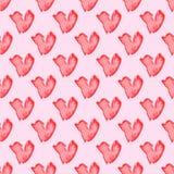 Bezszwowy serce wzór Tileable tło Zdjęcie Royalty Free