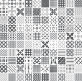 100 bezszwowy set monochrom Zdjęcie Royalty Free