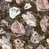 Bezszwowy skała kamienia bruk Tło, natura Zdjęcia Stock