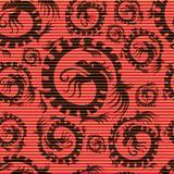 bezszwowy smoka chiński wzór Obraz Stock