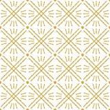 Bezszwowy sprawdzać wzór z złotą błyskotliwą linią Złocisty w kratkę wzór Powtarzalny projekt Może używać dla tkaniny, świstek royalty ilustracja
