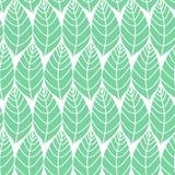 Bezszwowy stylizowany liścia wzoru tło Minimalistic naturalny bakground Prosta wektorowa tekstura z liśćmi Zdjęcie Royalty Free