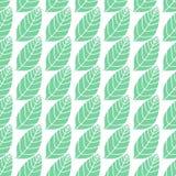 Bezszwowy stylizowany liścia wzoru tło Minimalistic naturalny bakground Prosta wektorowa tekstura z liśćmi umieszczającymi wewnąt Zdjęcie Royalty Free