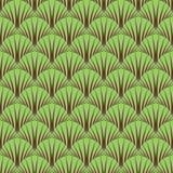 Bezszwowy symboliczny lasu wzór. Obraz Stock