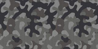 Bezszwowy szary miastowy camo wzoru wektor ilustracji