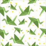 Bezszwowy tło z papierowymi żurawiami ilustracja wektor
