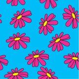 bezszwowy tła lato Jaskrawi kolory Barwione stokrotki Hawajczyk rośliny Zdjęcie Stock