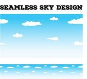 Bezszwowy tło desing z niebem i chmurami ilustracji