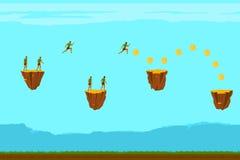 Bezszwowy tło dla gier mobilnych zastosowań komputerów i obraz royalty free