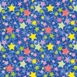 Bezszwowy tło, gwiazdy Obrazy Royalty Free