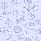 Bezszwowy tło ikony logistyk usługa Fotografia Stock