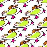 Bezszwowy tło kaczki dziecka s rysować handmade Obraz Stock