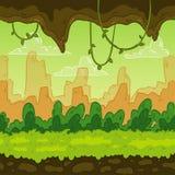 Bezszwowy tło Kształtująca teren dżungla dla gemowego projekta Paralaksa przygotowywa ilustracja wektor