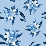 Bezszwowy tło kwiat azalie zdjęcie stock