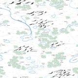 Bezszwowy tło malująca mapa. Obraz Royalty Free