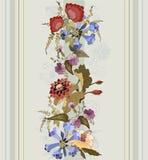 Bezszwowy tło od kwiatu ornamentu Obraz Royalty Free