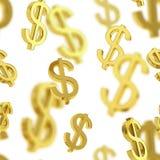 Bezszwowy tło robić dolarowi znaki Fotografia Stock