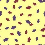 Bezszwowy tło: strzałkowata geometria Fotografia Royalty Free