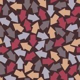 Bezszwowy tło: strzałkowata geometria Obraz Royalty Free