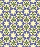 Bezszwowy tło, wzór z liśćmi i abstraktów elementy, obraz stock