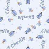 Bezszwowy tło wzoru imię Charlie nowonarodzony Obraz Stock