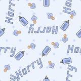 Bezszwowy tło wzoru imię nowonarodzony Harry Zdjęcie Royalty Free