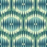 Bezszwowy tło z żebrującymi okręgami Obrazy Royalty Free