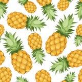 Bezszwowy tło z ananasami. Wektorowy illust royalty ilustracja