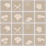 Bezszwowy tło z baseball ikonami Obrazy Royalty Free