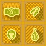 Bezszwowy tło z bokserskimi ikonami Obraz Royalty Free