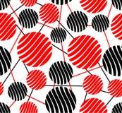 Bezszwowy tło z czerwieni i czerni okręgami Obrazy Stock