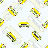 Bezszwowy tło z dzieciaków zabawkarskimi samochodami Obraz Stock