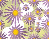 Bezszwowy tło z fiołkowymi kwiatami Zdjęcia Royalty Free