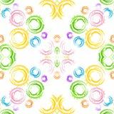 Bezszwowy tło z geometrycznymi zaokrąglonymi kształtami Obrazy Royalty Free