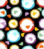 Bezszwowy tło z kolorowymi grunge okręgami Zdjęcia Royalty Free